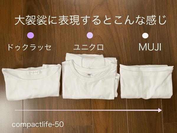 白Tシャツの色味3つ